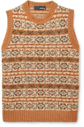 Lardini Fair Isle Wool-Blend Sweater Vest