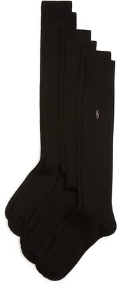 Polo Ralph Lauren Wide Rib Dress Socks, Pack of 3 $28 thestylecure.com
