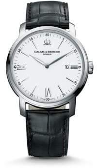 Baume & Mercier Classima 8485 Stainless Steel& Alligator Strap Watch