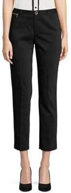 Karl Lagerfeld Paris Zip-Trim Skinny Crop Pants