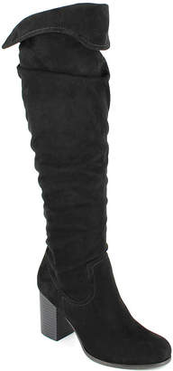 DOLCE by Mojo Moxy Womens Amelia Over the Knee Boots Block Heel Pull-on