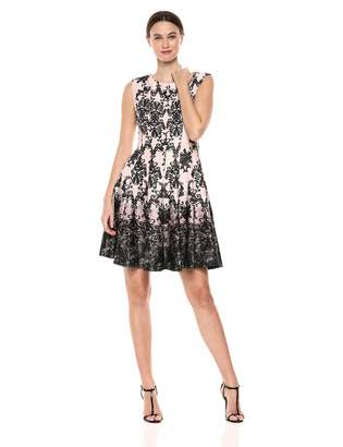 6f263a06e9 Gabby Skye Women s Chandelier Printed Fit and Flare Dress