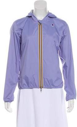 K Way Kids Girls' Hooded Zip-Up Jacket w/ Tags