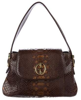 Gucci Python 1973 Flap Shoulder Bag