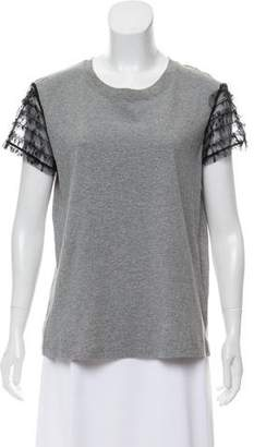 RED Valentino Ruffle Short Sleeve Top w/ Tags