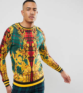 Asos Design DESIGN Tall knitted jumper with all over design