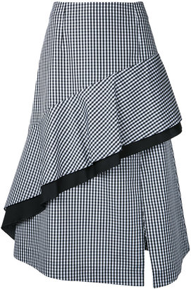 Gingham Check Flow skirt