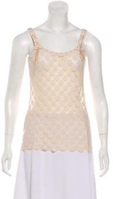 Jean Paul Gaultier Patterned Sleeveless Top