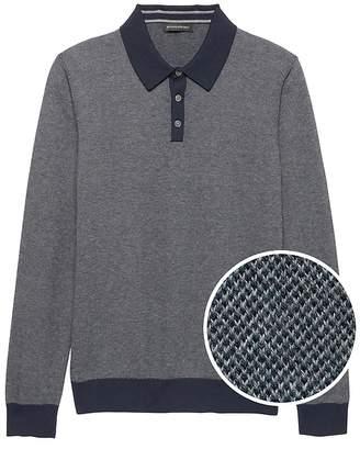 Banana Republic Cotton Cashmere Birdseye Sweater Polo