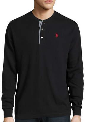 U.S. Polo Assn. USPA Long-Sleeve Thermal Henley Cotton Shirt