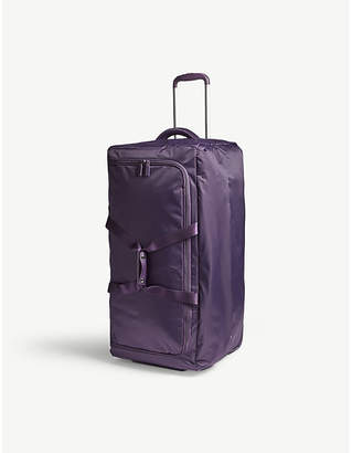 Lipault Foldable wheeled duffel bag 55cm, Purple