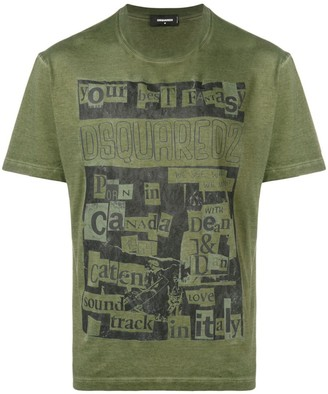 DSQUARED2 collage print T-shirt