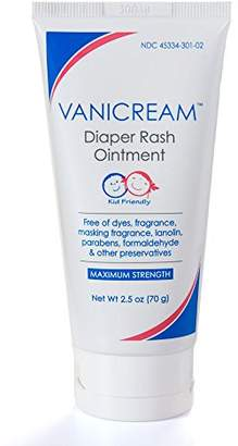 Vanicream Diaper Rash Ointment for sensitive skin with maximum strength zinc oxide - dermatologist tested - dye free