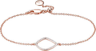 Monica Vinader Riva kite chain 18ct rose-gold vermeil pavé diamond bracelet