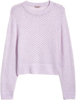 H&M H&M+ Loose-knit Sweater - Purple