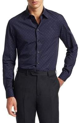Emporio Armani Diamond Dot Button-Down Shirt