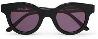 Sun Buddies Edie Round-Frame Acetate Sunglasses