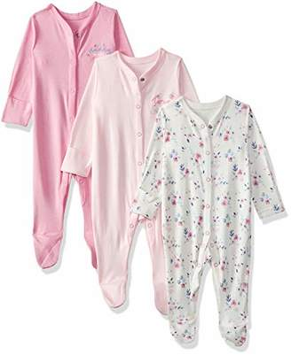 Mothercare Baby Girls Mummy & Daddy 3 Packed Sleepsuit (Pale Pink), (Size: 68)