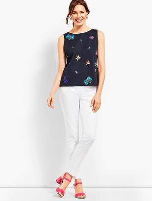 Talbots Faille Embellished Shell
