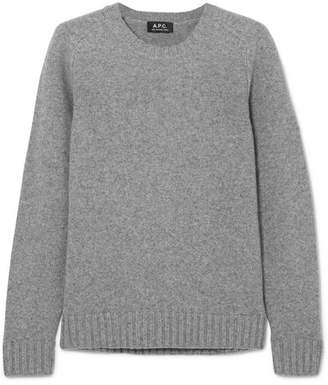 A.P.C. Vivian Wool And Cashmere-blend Sweater - Gray