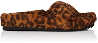 Alexander Wang Women's Bee Leopard-Print Fur Slide Sandals