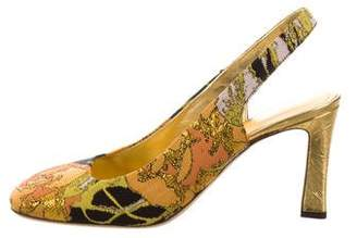 Dries Van Noten Jacquard Slingback Pumps w/ Tags