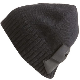 Kate Spade New York Bow Beanie $48 thestylecure.com