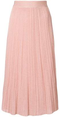 M Missoni pleated knit skirt