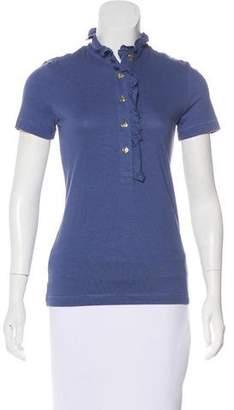 Burberry Nova Check-Trimmed Polo Shirt