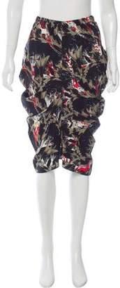 Zero Maria Cornejo Printed Silk Skirt