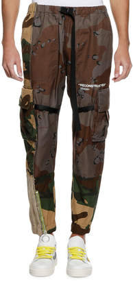 Off-White Off White Men's Reconstructed Camo-Print Cargo Pants