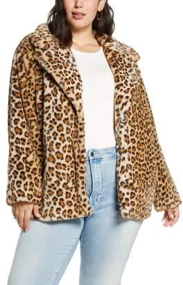 1a62b80207 Plus Size Leopard Coat - ShopStyle