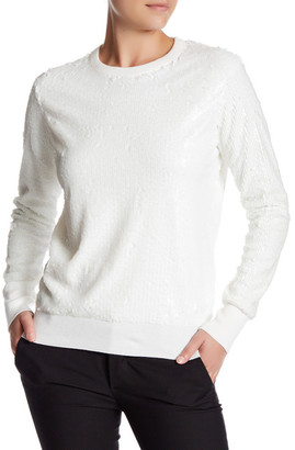 Equipment Shane Sequin Crew Neck Sweater $398 thestylecure.com