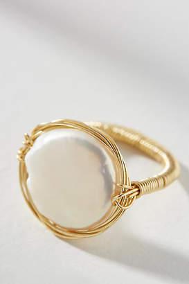 Sabrina Amber Sceats Pearl Wrap Ring