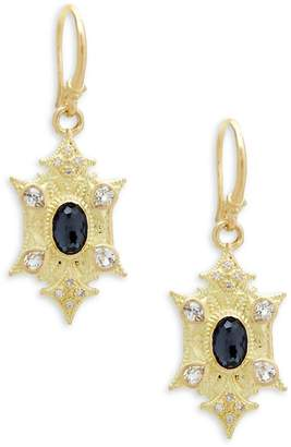 Armenta Women's Sueno Gemstone & Diamond Yellow Gold Point Drop Earrings