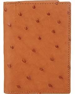 Barneys New York Men's Ostrich Card Case-Beige, Tan