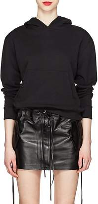 Saint Laurent Women's Cat-Eye-Mask Cotton French Terry Hoodie