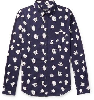 Club Monaco Slim-Fit Button-Down Collar Printed Cotton Shirt