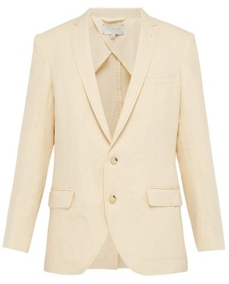 Arjé Arje - The Eli Single Breasted Linen Blazer - Mens - Cream