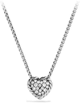 David Yurman 'Chatelaine' Heart Pendant Necklace with Diamonds