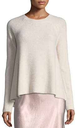 Vince Directional-Rib Cashmere Pullover Sweater