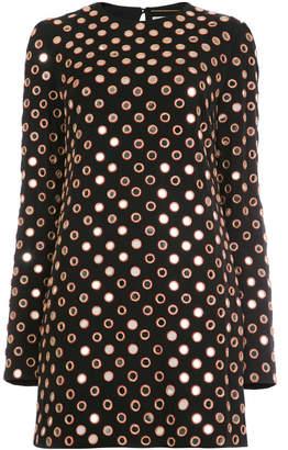 Saint Laurent eyelet embellished dress