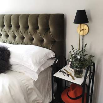 Lulu & Georgia Amarise Tufted Velvet Bed, Moss