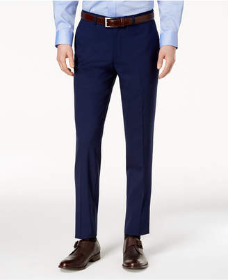 Cole Haan Men S Grand Os Wearable Technology Slim Fit Stretch Modern Blue Solid Suit