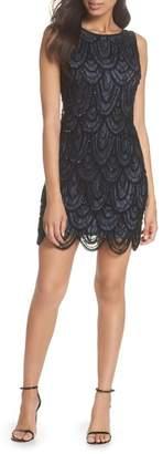 Pisarro Nights Beaded Lace Sheath Dress (Regular & Petite)