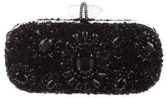 Marchesa Crystal-Embellished Lily Clutch