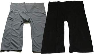 Lululemon US Garment Very Beautiful Yoga Trousers Thai Fisherman Pants Yoga Trousers Free Size Plus Size Cotton Light Grey and Black Color
