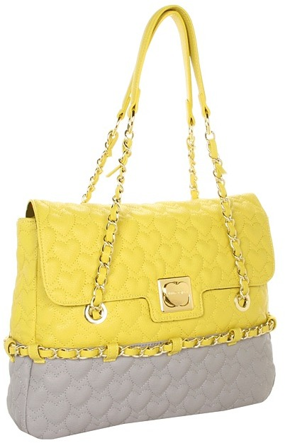 Betsey Johnson Be My One Only Multi Flapover Tote (Yellow Multi) - Bags and Luggage