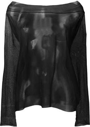 Semi-Couture Semicouture off-shoulder sheer top