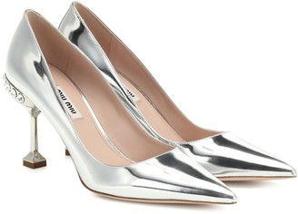 Miu Miu Metallic leather pumps